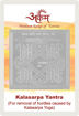 Picture of ARKAM Kalasarpa Yantra with lamination - Silver Plated Copper (For removal of hurdles caused by Kalasarpa yoga) - (2 x 2 inches, Silver)
