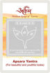 Picture of ARKAM Apsara Yantra with lamination - Silver Plated Copper (For beautiful and youthful looks) - (2 x 2 inches, Silver)