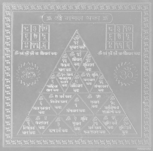 Picture of ARKAM Mangal Yantra - Silver Plated Copper (For appeasement of planet Mars) - (6 x 6 inches, Silver)