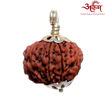 Picture of ARKAM Premium 9 Mukhi Rudraksha / Original Nepali Nine Mukhi Rudraksha / Natural 9 faced Rudraksha (Brown) with Silver Chain (92.5% Sterling Silver) and Silver Pendant with  detailed Puja and wearing instructions