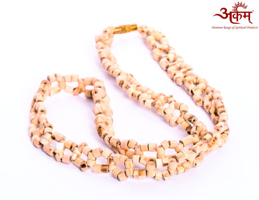 Picture of Arkam Netted Tulsi Mala/ 100% Natural Tulsi Mala Netted/ Original Tulsi mala in Net design (Length: 18 inches)