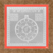 Picture of ARKAM Vasheekaran (Stree) Yantra - Silver Plated Copper (For controlling desired female) - (4 x 4 inches, Silver) with Framing