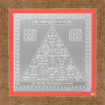 Picture of ARKAM Bhoomi Yantra - Silver Plated Copper (For protection against evil spirits) - (6 x 6 inches, Silver) with Framing