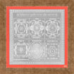 Picture of ARKAM Vyapaar Vriddhi Yantra - Silver Plated Copper (for Prosperity in Business) - (6 x 6 inches, Silver) with Framing