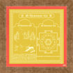 Picture of Arkam Chinnamasta Yantra - Gold Plated Copper (For speedy success in all endeavours) - (6 x 6 inches, Golden) with Framing