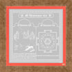 Picture of ARKAM Chinnamasta Yantra - Silver Plated Copper (For speedy success in all endeavours) - (4 x 4 inches, Silver) with Framing