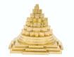 Picture of ARKAM Meru Shri Yantra - Brass - for Success, Wealth & Prosperity (10 x 10 x 9 cm Shree Yantra)